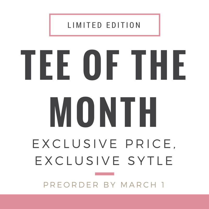 Introducing The Rosie Project Tee of the Month