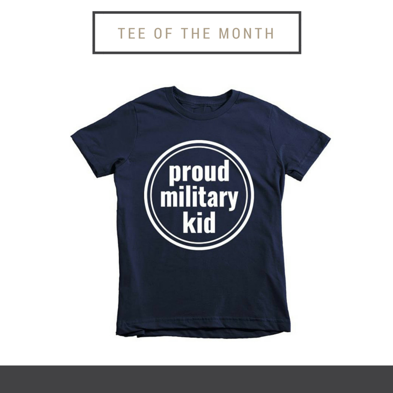 Tee of the Month to Celebrate Month of the Military Child