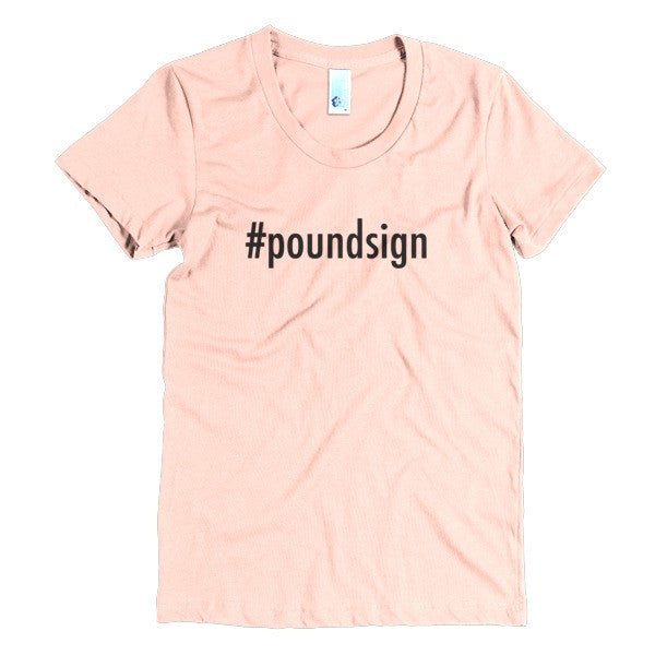 #poundsign graphic tee
