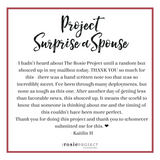 The Rosie Project Gift Certificate - The Rosie Project - 3