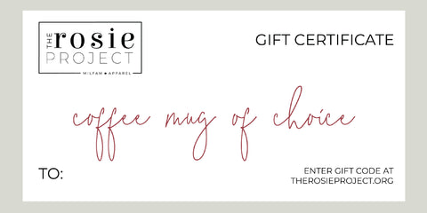 The Rosie Project Gift Certificate