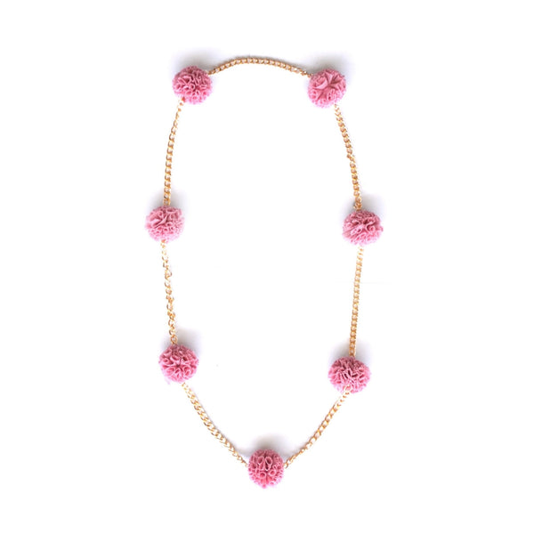 Pink Tulle Chain Necklace