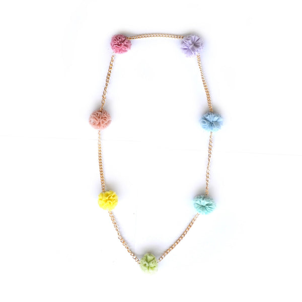 Rainbow Tulle Chain Necklace
