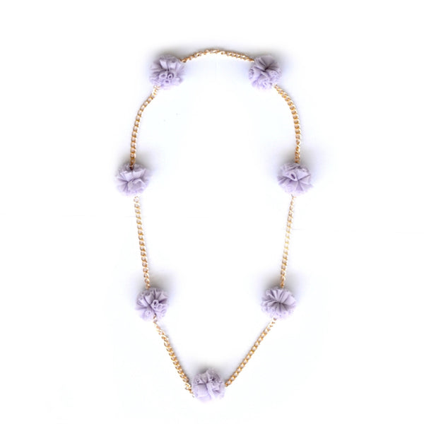 Lavender Tulle Chain Necklace