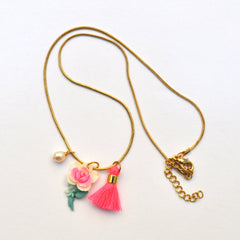 Vintage Rose Charm Necklace - gemma + filo