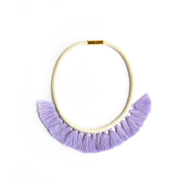 Lavender Tassel Necklace
