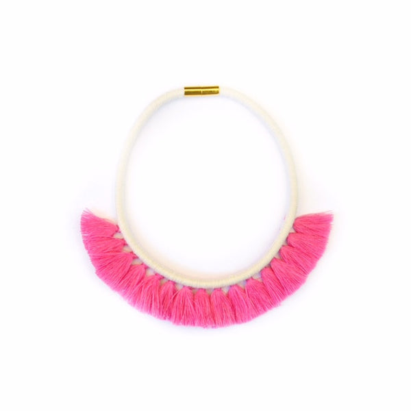 Bubblegum Tassel Necklace