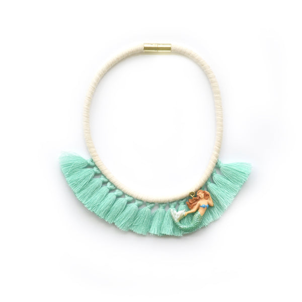 Mint Mermaid Tassel Necklace
