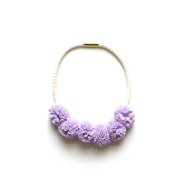 Lavender Tulle Bib Necklace