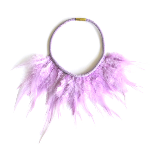 Lavender Feather Necklace