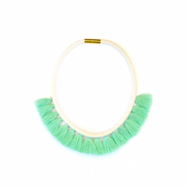 Mint Tassel Necklace