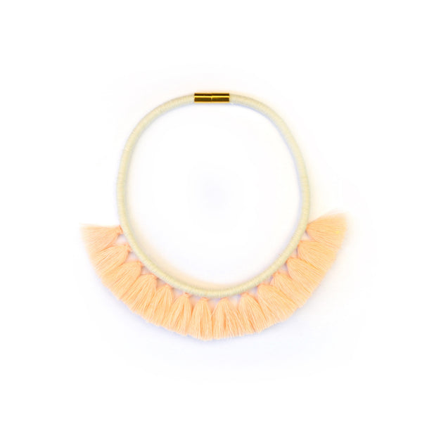 Peach Tassel Necklace