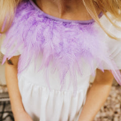 Lavender Feather Necklace - gemma + filo