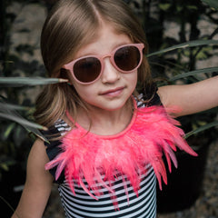 Pink Feather Necklace - gemma + filo