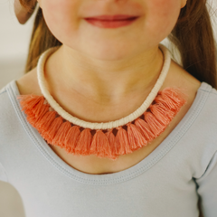 Blushing Tassel Necklace