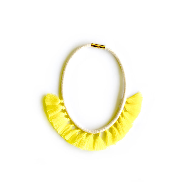Lemon Tassel Necklace