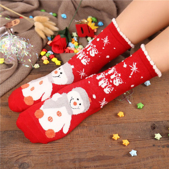 High Quality Women's Socks Christmas Style Winter Cotton Warm Socks For Girl Christmas Gift Free Shipping