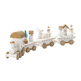 Christmas Decoration For Home Little Train Popular Wooden Train Decor Christmas Valentine's Day Gift New Year Supplies