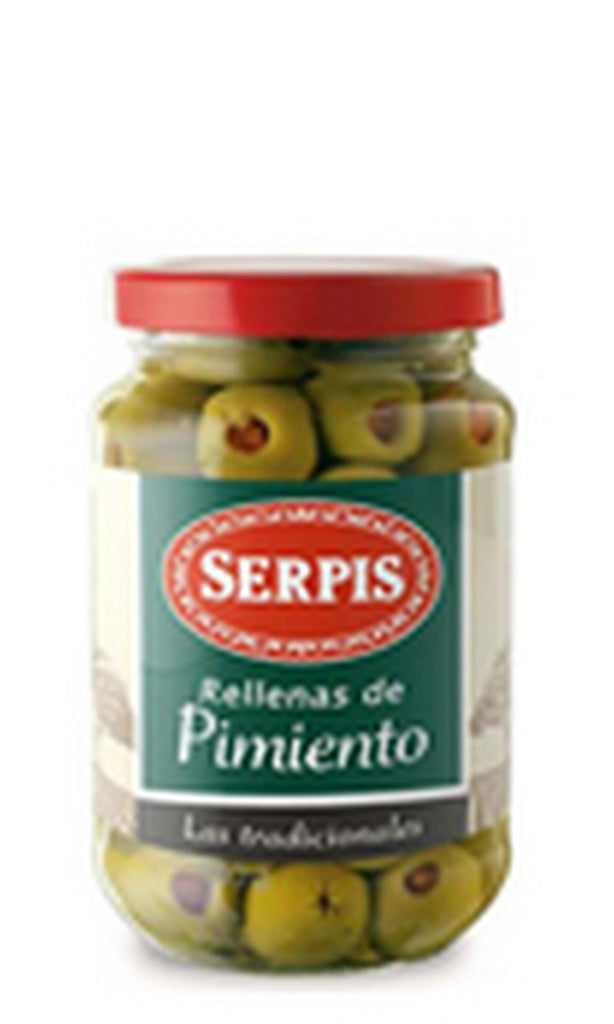Serpis Green Olives stuffed with Red Pepper