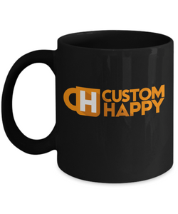 15 Black Custom Coffee Mugs