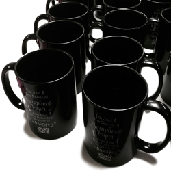 11 oz Black Coffee Mugs Mockup Generator