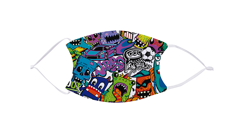 Face Mask Print on Demand White Straps - Adult size