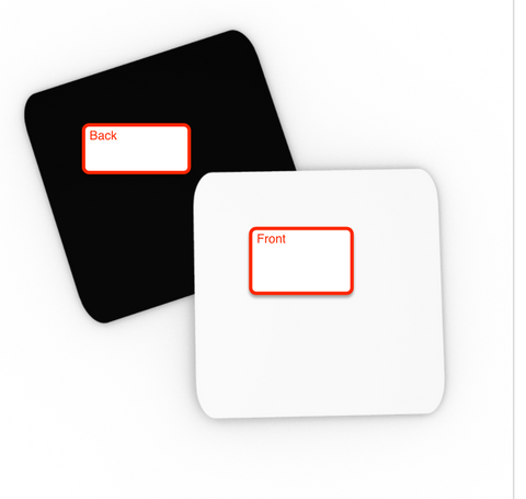 5-set Bundled Case of Coasters (Qty 400, 80x5) - FBA and other pre-paid shipping labels