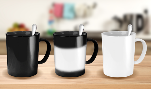 Color Changing Mugs (black to white)