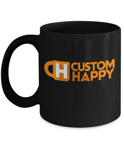 11 oz Black Custom Coffee Mugs