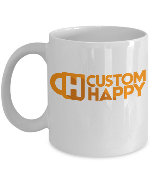 11 oz White Custom Coffee Mugs Mock-up Generator