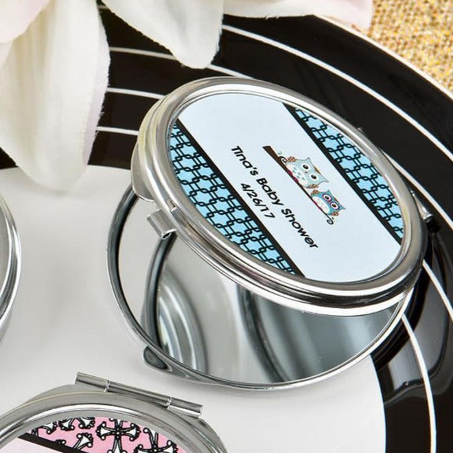 Circle Compact Mirror Print on Demand Fulfillment. Gift Box included!