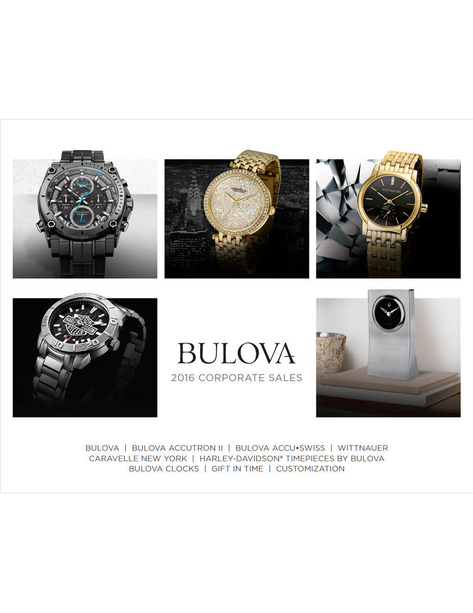 2016 Bulova Corporate Sales Catalog Canada