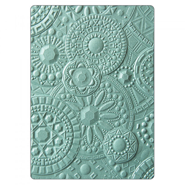 New! Sizzix 3-D Textured Impressions Embossing Folder - Mosaic Gems by Courtney Chilson