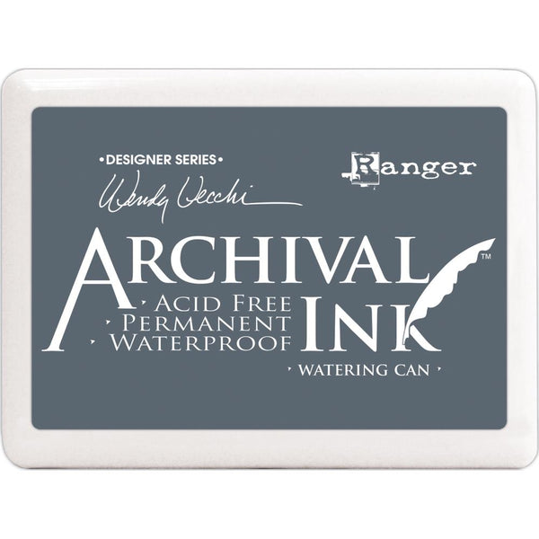 New! Ranger Wendy Vecchi JUMBO SIZE Archival Ink Pad - Watering Can