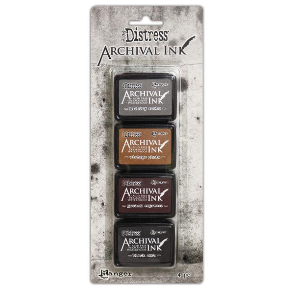 New! Ranger Tim Holtz Distress Mini Archival Ink Pads Set - Kit #3