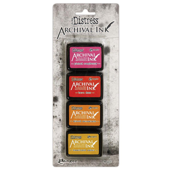 New! Ranger Tim Holtz Distress Mini Archival Ink Pads Set - Kit #1