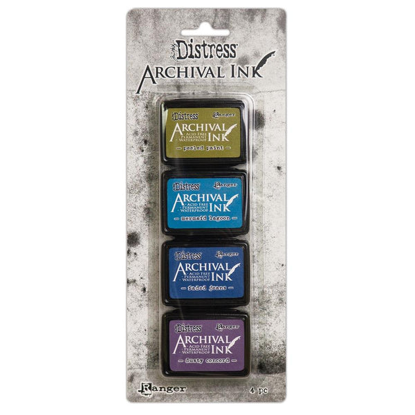 New! Ranger Tim Holtz Distress Mini Archival Ink Pads Set - Kit #2