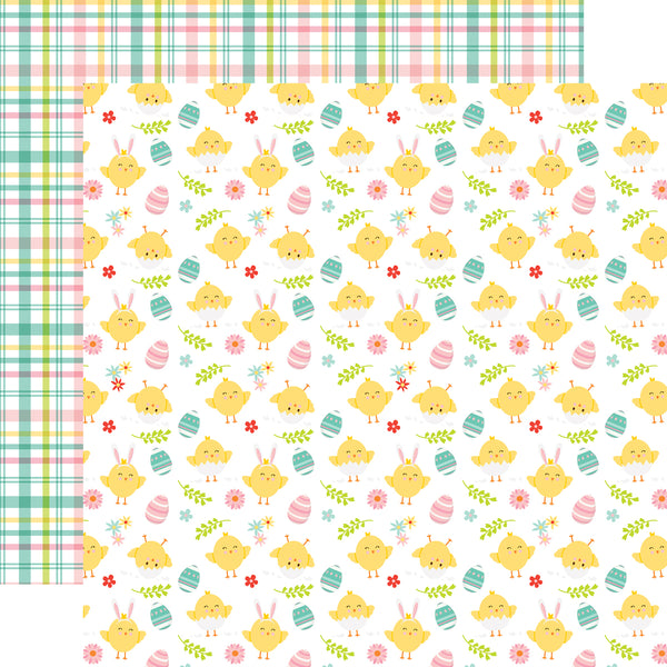 New! Echo Park Paper EASTER WISHES 12x12 Scrapbook Cardstock Paper - Cute Chicks