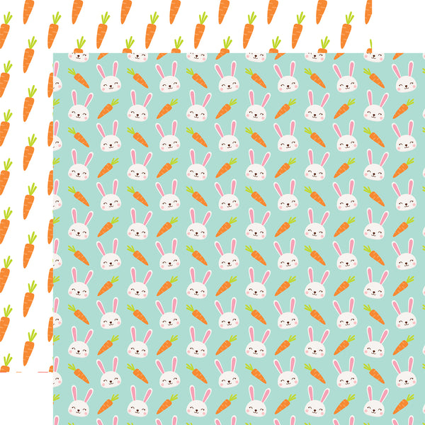 New! Echo Park Paper EASTER WISHES 12x12 Scrapbook Cardstock Paper - Some Bunny Special