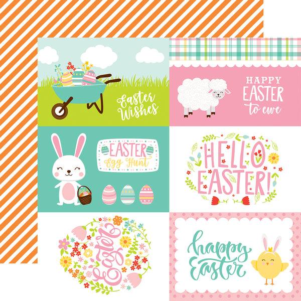 New! Echo Park Paper EASTER WISHES 12x12 Scrapbook Cardstock Paper - 4x6 Journaling Cards