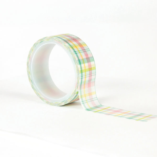 New! Echo Park Paper EASTER WISHES Decorative Washi Tape - Easter Plaid