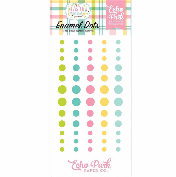 New! Echo Park Paper EASTER WISHES Decorative Enamel Dots