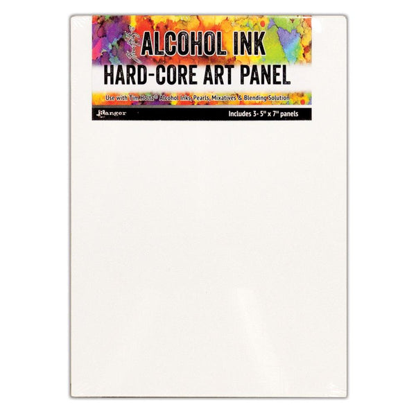 New! Ranger Tim Holtz Alcohol Ink 5x7 Hard Core Art Panel - Pack of 3
