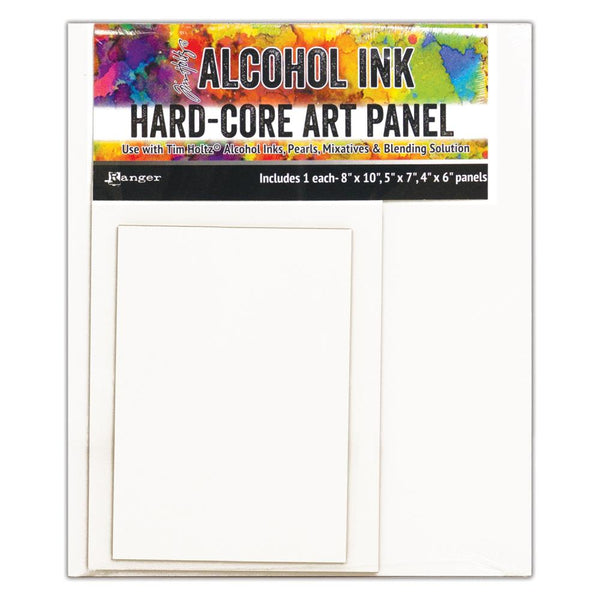 New! Ranger Tim Holtz Alcohol Ink Hard Core Art Panel - Pack of 3 Rectangles (1 each 8x10, 5x7, 4x6)
