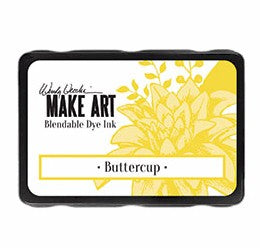 New! Ranger Wendy Vecchi Make Art Blendable Dye Ink Pad - Buttercup