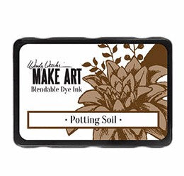 New! Ranger Wendy Vecchi Make Art Blendable Dye Ink Pad - Potting Soil
