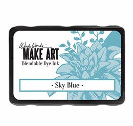 New! Ranger Wendy Vecchi Make Art Blendable Dye Ink Pad - Sky Blue
