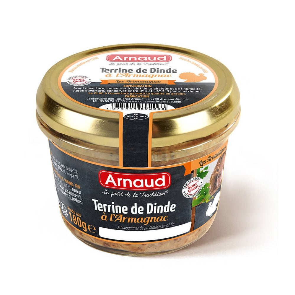 Turkey Terrine with Armagnac Arnaud 180g -Terrine de Dinde a l'Armagnac Special Price