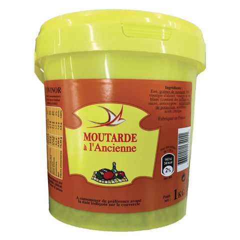 Whole Grain Mustard Moutarde Ancienne 1kg