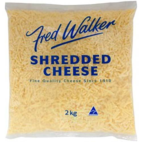 Fred Walker Tasty Shredded Cheese 2kg